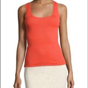 Tory Burch Gabrielle Tank Poppy Red Large NWT